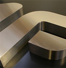 Stainless steel block letters