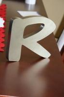 Litera 3D - szczotkowana stal nierdzewna
