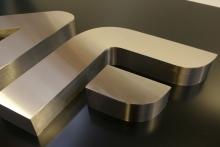 Litery 3D - szczotkowana stal nierdzewna (3)