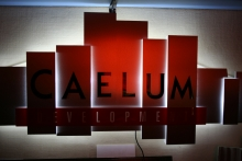 Grafika przestrzenna z aluminium i plexi